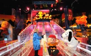Charlie Brown ice slide