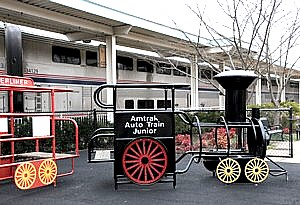 A train going to far rockaway