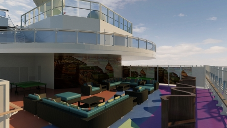 Royal Princess youth centers will include new outdoor lounge and play spaces.