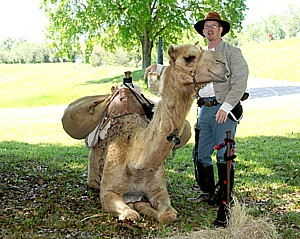 See why a camel is part of the Civil War Sesquicentennial commemoration at Vicksburg National Military Park. Vicksburg, named by AAA Southern Traveler and AAA Midwest Traveler as one of the top 13 places to visit in 2013, kicks off Civil War Sesquicentennial (150th Anniversary) events in April and continues through July 4, the anniversary of the Siege of Vicksburg's surrender © 2013 Karen Rubin/news-photos-features.com