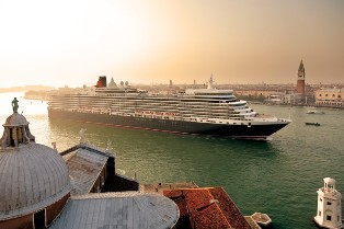 Cunard Line's Queen Elizabeth 2. The line is offering North American military personnel $250 in onboard credit.