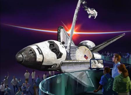 "In celebration of the June 29 opening of Space Shuttle AtlantisSM, the new $100-million educational attraction at Kennedy Space Center Visitor Complex, the summer camp is themed ""Atlantis: Celebrate the Journey."" Campers will learn firsthand about the engineering marvel of the space shuttle."