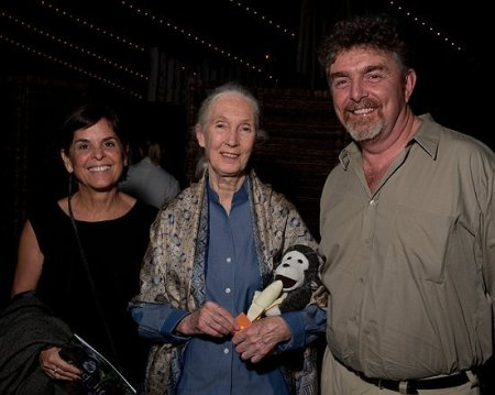 "Gerard ""Ged"" Caddick,  founder Terra Incognita Ecotours, with Jane Goodall."