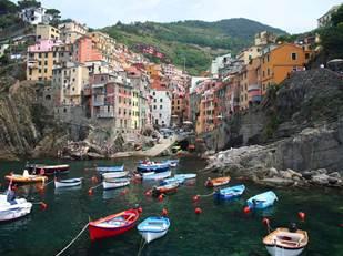 crystal-Riomaggiore, Cinque Terre, Italy
