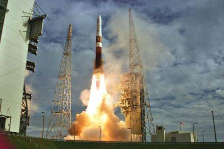 Delta 4 Rocket Launch.  Visitors to Kennedy Space Center will to able to watch the launch on August 7.