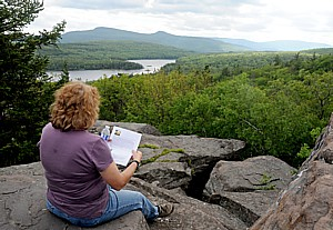 The view from Sunset Rock, a popular location for Thomas Cole, the father of the Hudson River School, America's first major art movement © 2013 Karen Rubin/news-photos-features.com
