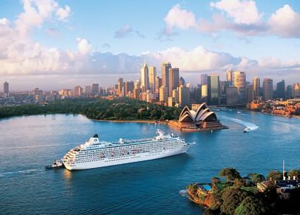 Crystal Symphony in Sydney, Australia.