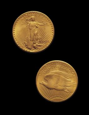 Augustus Saint-Gaudens (1848-1907), Saint-Gaudens Double Eagle, 1933. Gold. Property of a Private Collector, on loan to the New-York Historical Society