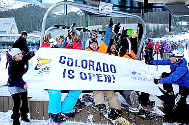 Arapahoe Basin, one of the Colorado Ski Country USA member resorts, became the first ski resort in the nation to open for the 2013-14 season (photo: Jack Depmsey)