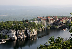 "Mohonk Mountain House, New Paltz, The Catskills was among five New York State hotels selected for Conde Nast Traveler Reader's Choice Awards in the ""Top 20 Resorts in the Northeast"" category © 2013 Karen Rubin/news-photos-features.com"