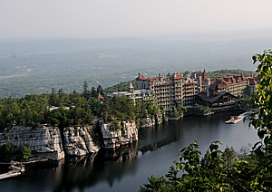 Take Metro-North's Hudson Line to Poughkeepsie to hop on the resort shuttle for Mohonk Mountain House and enjoy a timeless getaway at a Victorian style castle © 2013 Karen Rubin/news-photos-features.com