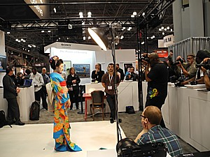 """PhotoPlus Expo brings renowned and successful photographers, educators, and leaders in imaging to the annual show in New York City that has come to be known as the """"largest photography classroom in America."""" Here, photographers get to practice studio lighting techniques © 2013 Karen Rubin/news-photos-features.com"""