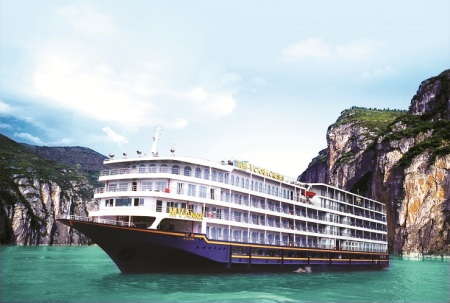 Victoria Cruises sails the Yangtze River in China.