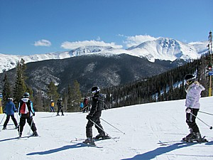 A children's ski lesson at Winter Park, Colorado. January is Learn to Ski & Ride month at Colorado Ski Country resorts which are offering special deals to get newbies to the slopes © 2013 Karen Rubin/news-photos-features.com