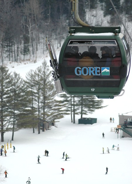 The high-speed gondola at Gore Mountain.