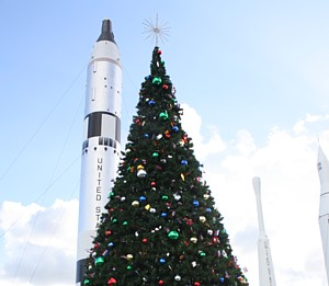 3rd Annual 'Holidays in Space' at Kennedy Space Center Visitor Complex takes place Nov. 29-Jan 5.