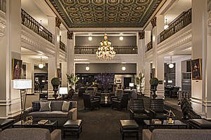 The historic Lord Baltimore Hotel reopens after a complete renovation that has restored its grandeur.