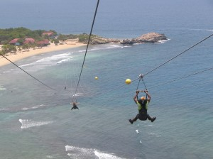 Enjoy the thrilling zipline on Labadee, Royal Caribbean's private island on Haiti's north coast © 2014 Karen Rubin/news-photos-features.com
