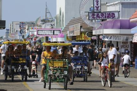 The Wildwoods' world-famous boardwalk in New Jersey was named the #1 Beach Boardwalk for Families in the nation by FamilyVacationCritic.com for the third year in a row.