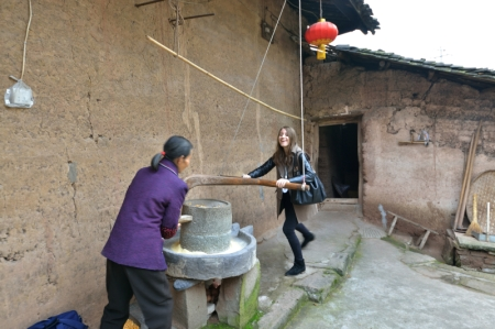 Passengers on Victoria Cruises' Yangtze River Cruise in China visiting the Fengdu settlement village will observe an old stone mill (pictured right) dating back to the Jin Dynasty, which is still used to grind rice, wheat, beans and other grains into flour.