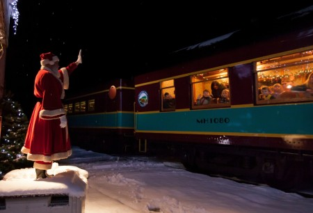 The Saratoga & North Creek Railway has begun service to the North Pole onboard THE POLAR EXPRESS™ Train Ride.  The magical story comes to life for a one-hour round-trip journey to the North Pole on select dates through Dec. 28 (photo courtesy of Premier Rail Collection).