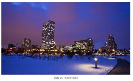 Accuweather predicts Milwaukee is likely to have a White Christmas (photo supplied by Accuweather).