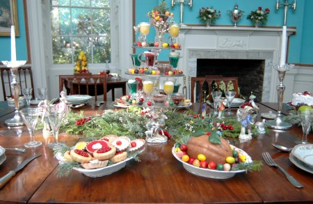 """The Garden Club of Charleston has partnered with the Joseph Manigault House to present """"Charleston's Antebellum Charms,"""" a themed floral display."""