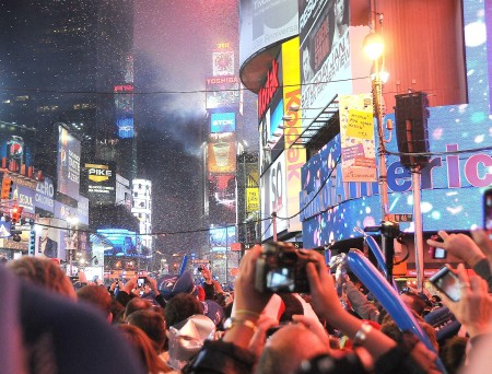 New Year's Eve in Times Square, New York - something that is a must-do at least once in a lifetime © 2014 Karen Rubin/news-photos-features.com
