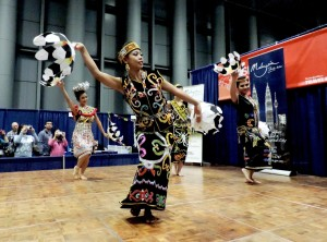 The New York Times Travel Show features cultural performances, such as these dancers from Malaysia © 2015 Karen Rubin/news-photos-features.com