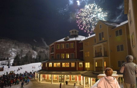 Okemo Mountain Resort  will create a mind-bending landscape of light and sound with its first-ever Let It Glow laser light show spectacular on Sunday, January 18 (photo supplied by Okemo)