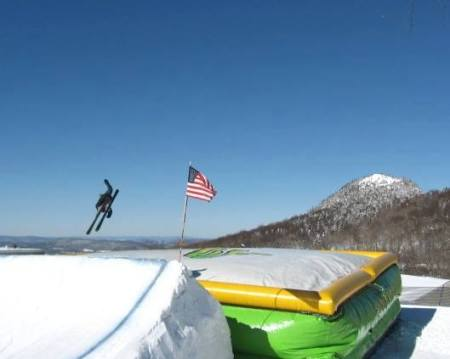 Freestyle daredevils can test their skills on the Bag Jump at Cannon Mtn, Feb. 14-17.