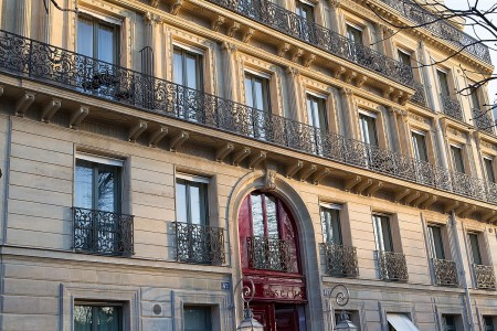 La Réserve Paris Hotel and Spa is recreated from the Haussmannian Mansion formerly owned by designer Pierre Cardin.