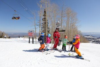 Park City Mountain Resort ski school.