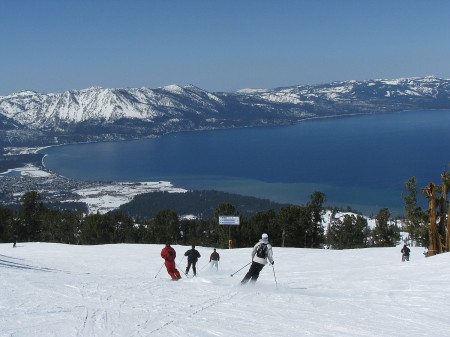 Ski Heavenly, Lake Tahoe: RideOn Ski Goggles let you communicate hands-free using audio and video, post videos and stats online for your friends back home © 2015 Karen Rubin/news-photos-features.com