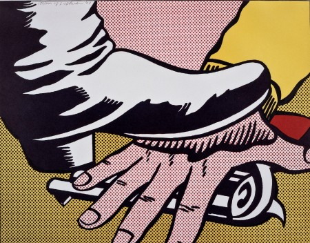 "Roy Lichtenstein, Foot and Hand, 1964, a gift of Mr. and Mrs. Samuel Dorsky, will be exhibited as part of the Nassau County Museum of Art's ""Out of the Vault""."