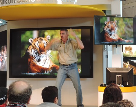 PDN's PhotoPlus International Conference & Expo offers opportunities to hear from experts. Nikon's booth offers a full day of presentations. here, Ron Magill gives an amazing talk on