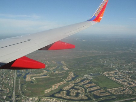 Flying into West Palm Beach, Florida